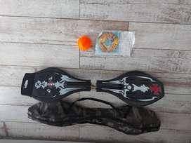 Waveboard Patineta 2 Ruedas Skate Ezlife 220 Bolso Pro Lija