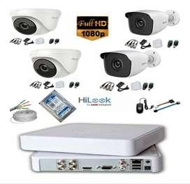 Cámaras de seguridad Full HD, Configuradas listas para instalar