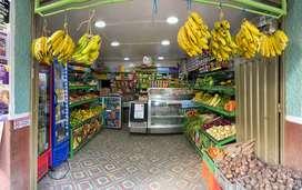 Venta de supermercado de frutas, verduras y abarrotes