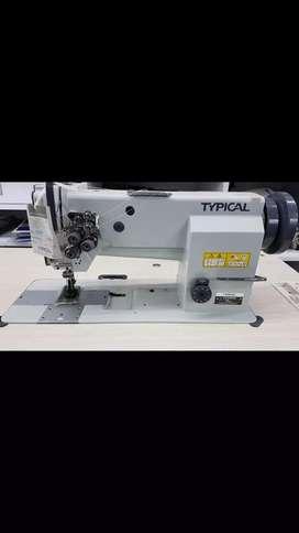 Máquina de coser tipical 2 agujas triple transporte