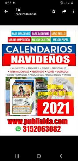 Litografía  de estampados de calendario  2021
