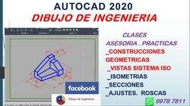 AutoCAD 2020. Dibujo de Ingenieria. Clases. Asesoria en Practicas y Trabajos