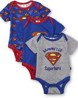 Ropa  de bebe Superman talla 0 a 3 meses original importada 100% algodón