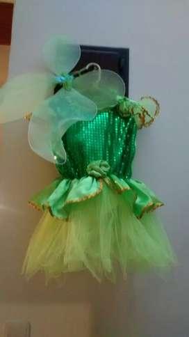 Disfraz Hada Tinkerbell Talla 4