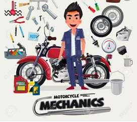 Se necesita mecánico de motos
