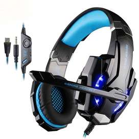 Auriculares Gamer Ps4 Pc Usb Con Microfono G9000 Luces Play4