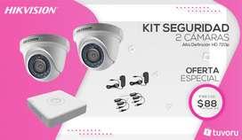KIT de 2 camaras de seguridad HD 720p