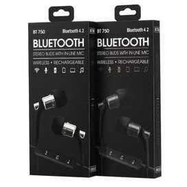 Auricular inalambrico Bluetooth SY-BT750 BT Version 4.2 manos Libres