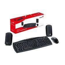 Combo GGenius KMS U110  Parlante, teclado y mouse PS2
