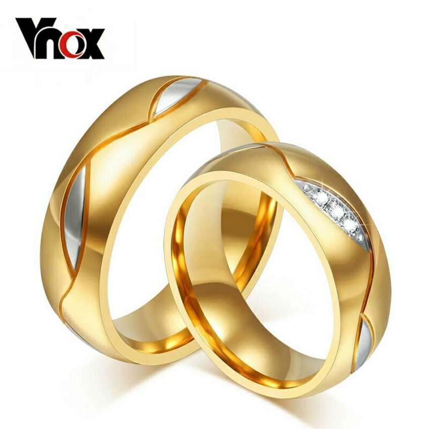 Aros de Matrimonio Oro Plata Boda Anillos Aniversario Ps4 Celular Joyas 0