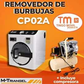 REMOVEDORA DE BURBUJAS M- TRIANGEL CP02A + COMPRESORA 8L550W