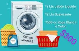 Jabón Líquido - suavizante - lavandina ropa blanca /color