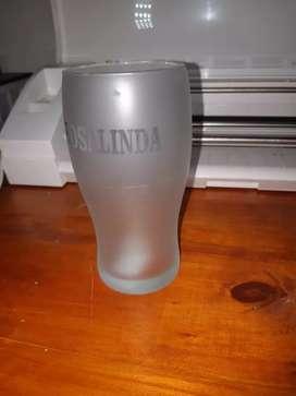 vaso de cerveza pinta esmerilado completo