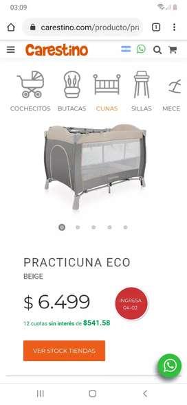 Practicuna carestino +colchón cannon nueva sin uso