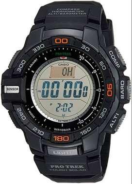 Reloj Casio Protrek Prg-270 Solar Triple Sensor Brújula Altímetro.