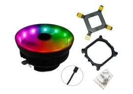 Fan Cooler Rgb DISIPADOR Intel Y Amd 120mm Ventilador Pc Con Luz
