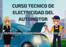 Curso técnico de electricidad del automotor.