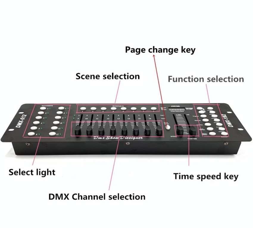 CONTROLADOR DMX 16 CANALES  DMX192 - DMX-512 0