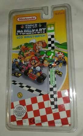 Reloj lcd yoshi super mario kart nuevo sellado año 1994