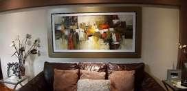 Lindo cuadro abstracto  en oleo