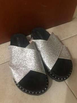 Sandalias con brillo