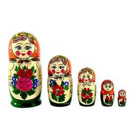 Matrioshka rusa de 5 piezas