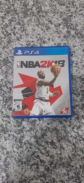 NBA2K18 ps4 juego fisico usado