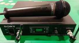 Liquido SONY MADE IN JAPON micrófono profesional inalámbrico y base UHF WRR-800