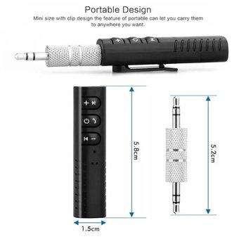 Adaptador Receptor Audio Bluetooth 4.2 Recargable Inalambrico 0