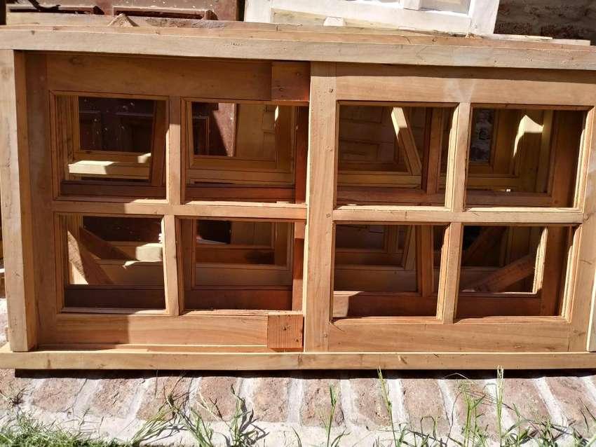 ventana corrediza de madera 0