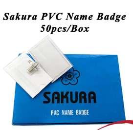 Caja de porta credenciales  PVC marca Sakura 50 unidades nuevos