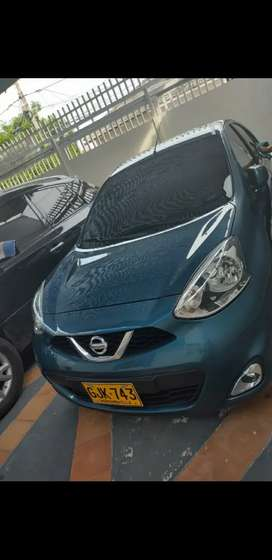 Vendo hermoso nissan march azul turquesa