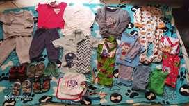 Lote ropa y zapatos bebe