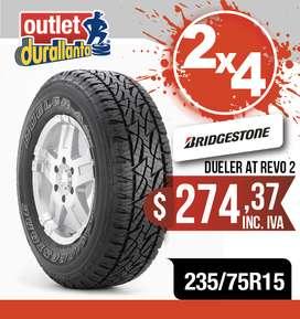 LLANTAS 235/75R15 BRIDGESTONE DUELER AT REVO2 LUV D-MAX  BT-50 KORANDO A230 Montero Sport 4WD