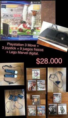 Playstation 3 Super Slim 250 GB - Move
