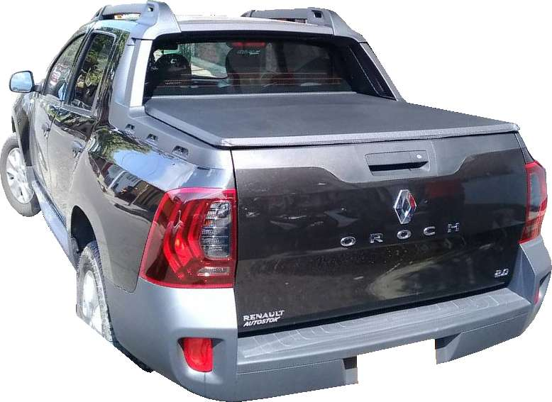 Carpa Plana Renault Duster Oroch Lona Con Marca Enrollable Riel Aluminio Camioneta Ref MC138 ¡Envío Gratis! 0