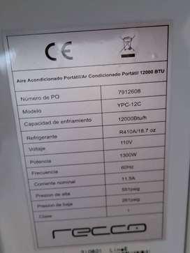 Aire Acondicionado Portátil 12000 BTU 115V Blanco
