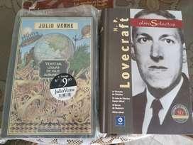 Libros de Julio Verne (Hetzel) y HP Lovecraft