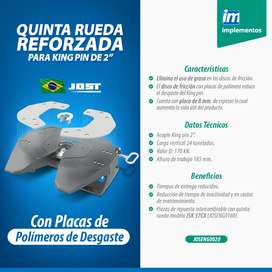 """Quinta Rueda 2"""" 185 mm Placas poliméricas"""