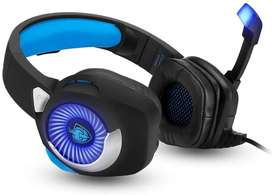 Auriculares Gamer Pc Ps4 C/ Luces Micrófono Nuevo