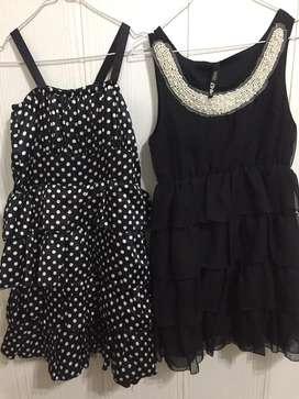 Vestido a lunares + vestido negro marca 47