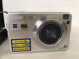 OFERTA CÁMARA Y VIDEO SONY Cyber-shot 8.1 MP cámara digital con zoom óptico de 4 x con Super Steady Shot (plata)