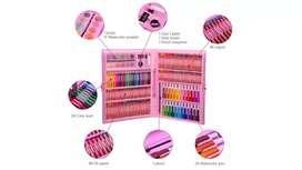 Set de 168 piezas para dibujar rosado