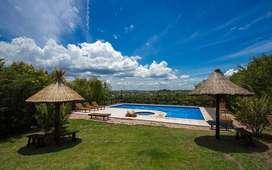 rf80 - Cabaña para 2 a 8 personas con pileta y cochera en Villa Giardino