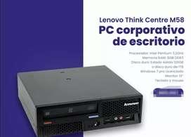 Equipo de mesa corporativa  intel pentiun 3.5 ghz memoria ram 6gb disco sólido 120gb o disco mecánico 1tb