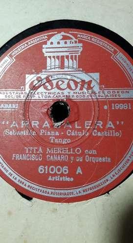 Discos De Pasta Antiguos 10 EN TOTAL  $500 EL LOTE