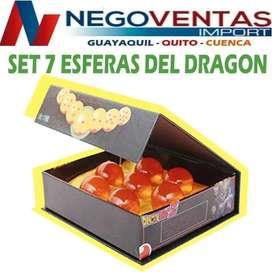SET 7 ESFERAS DEL DRAGON EN DESCUENTO EXCLUSIVO DE NEGOVENTAS