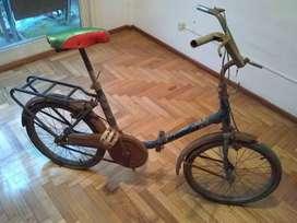 Vendo bicicleta plegable antigua rodado 20