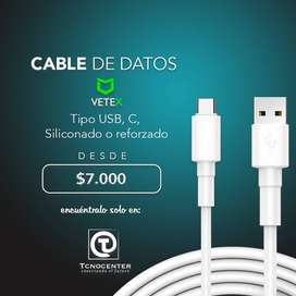 Cable de datos Micro USB y Tipo C para cualquier marca de Celular, Excelente Calidad, garantia, Tienda FIsica.