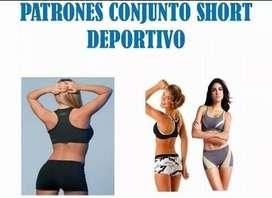 Patron Molde De Conjuntos Deportivos Short Mono Y Top